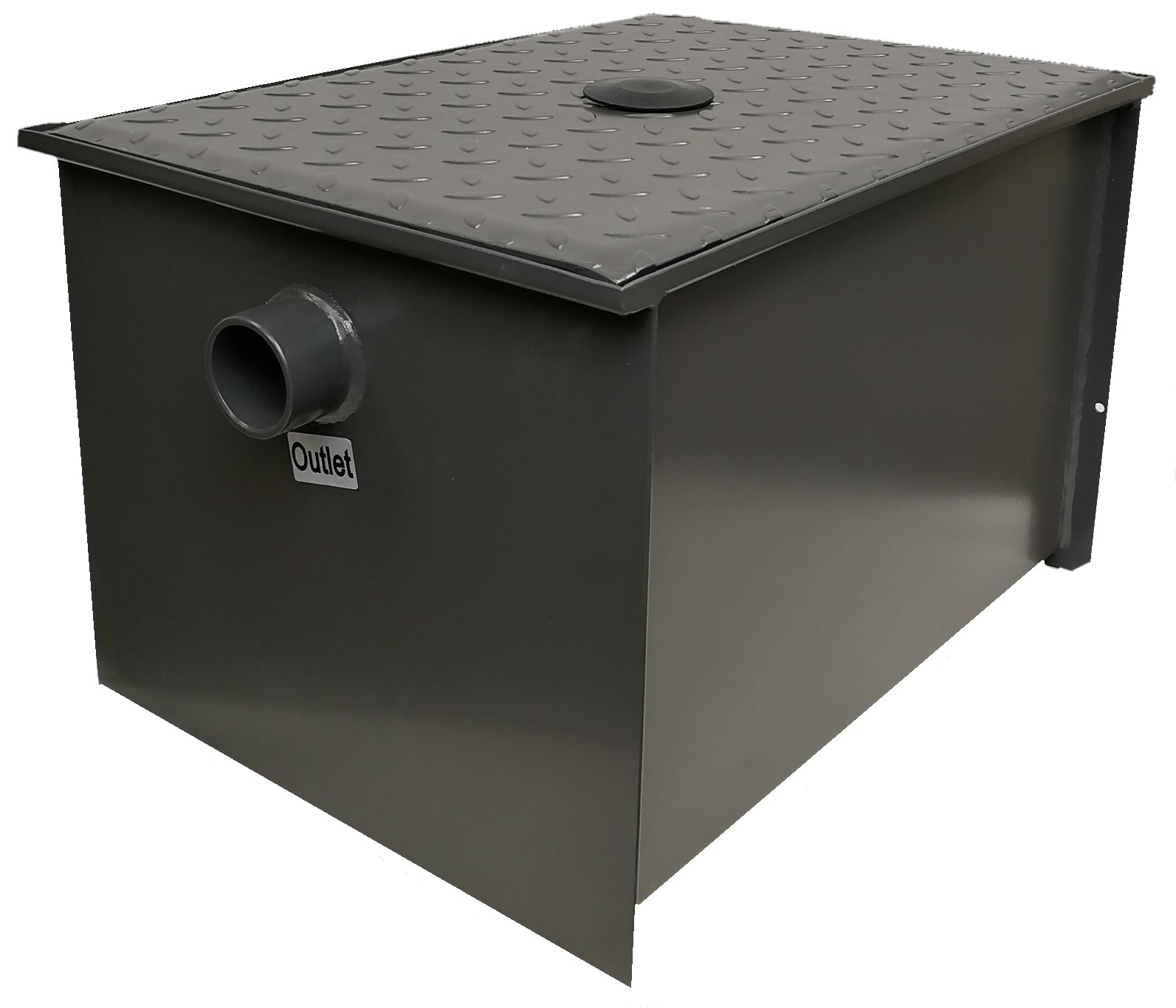 Ltr superior epoxy coated stainless steel grease trap