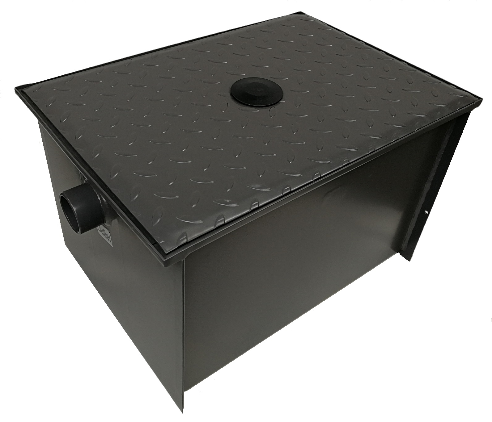 40 Ltr Superior Epoxy Coated Stainless Steel Grease Trap Diagram 2 Under The Sink